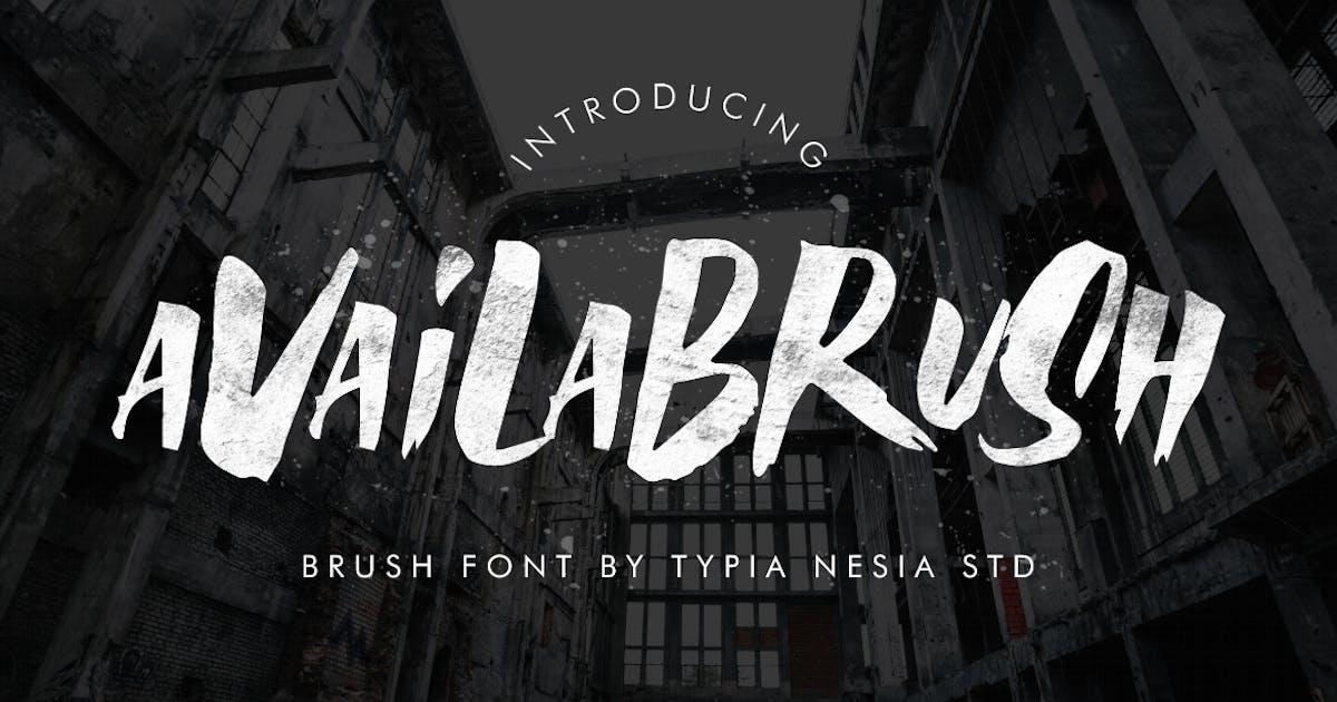 Download AvailaBrush Brush Font by yipianesia