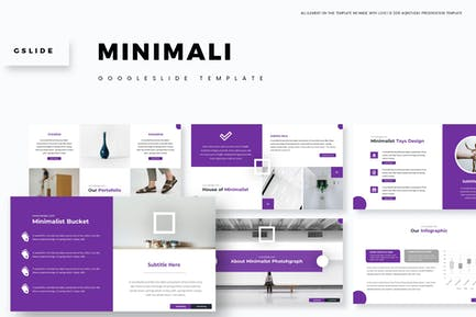 Minimali - Google PräsentationsVorlage