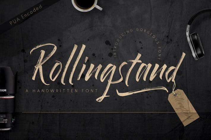 Thumbnail for Rollingstand - Modern Brush Font