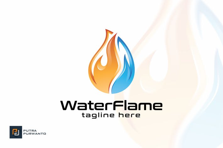 Thumbnail for Water Flame - Logo Template