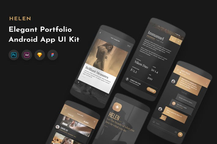 Thumbnail for Helen Android UI Kit