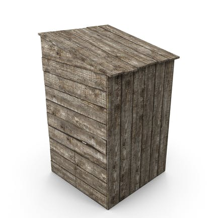 inodoro viejo de madera