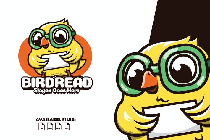 Thumbnail for Birdread - Logo Mascot