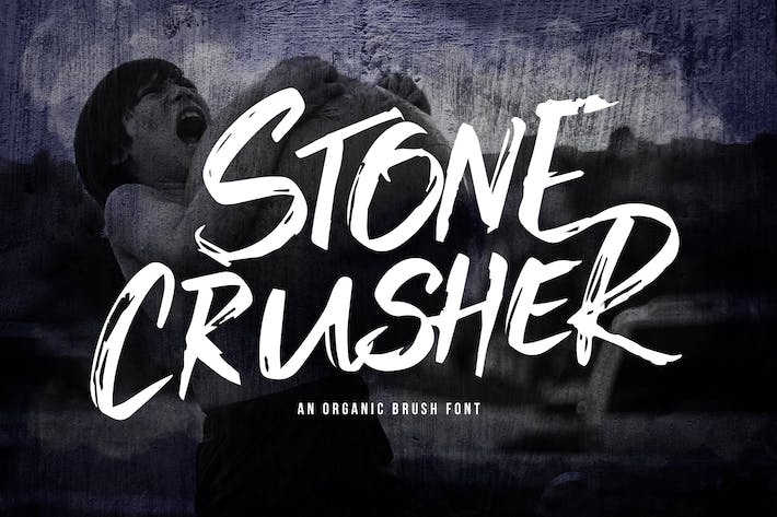 Thumbnail for Stone Crusher - Brush Display Font