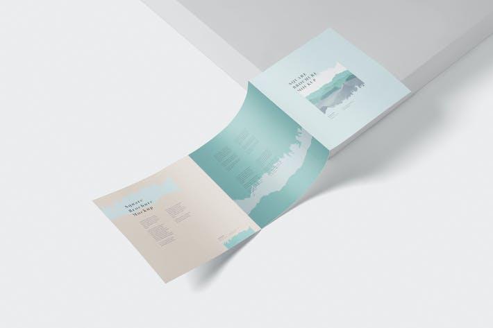 Thumbnail for Tri-Fold Broschüre Mock-Up - Quadratisch
