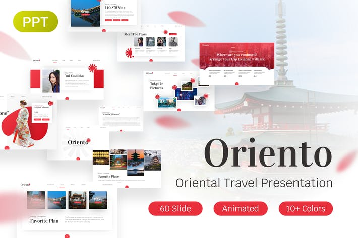 Thumbnail for Oriento Oriental PowerPoint Template