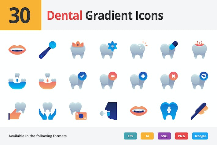 Thumbnail for Dental Vector Gradient Icons
