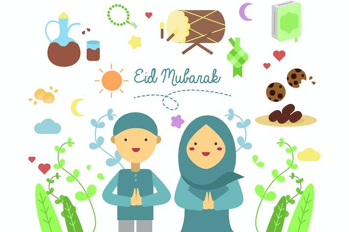 Thumbnail for Eid Al Fitr Doodle Character