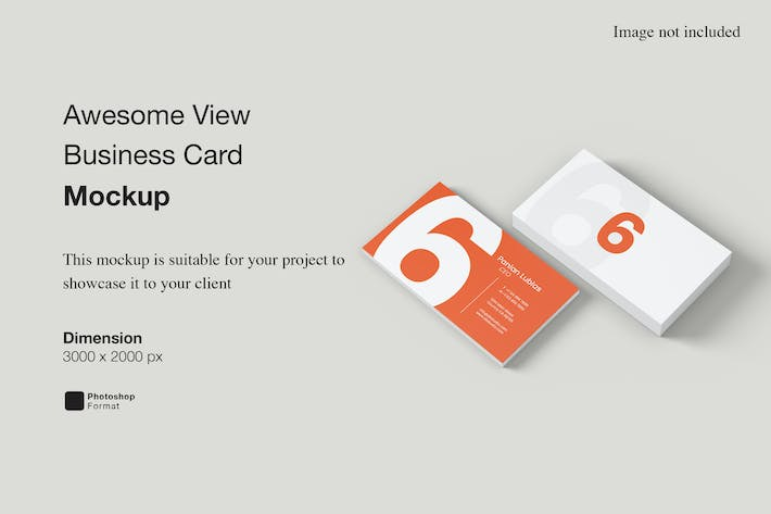 Awesome View Business Card Mockup