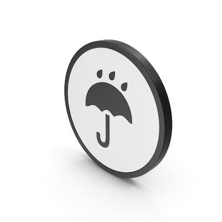Icono paraguas lluvia