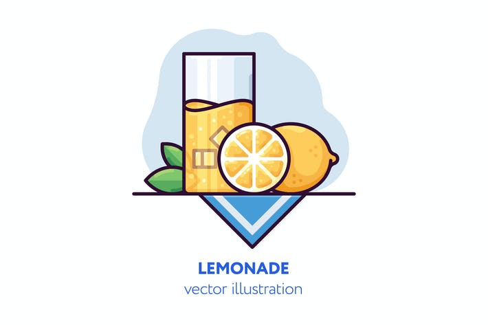 Thumbnail for Lemonade vector illustration
