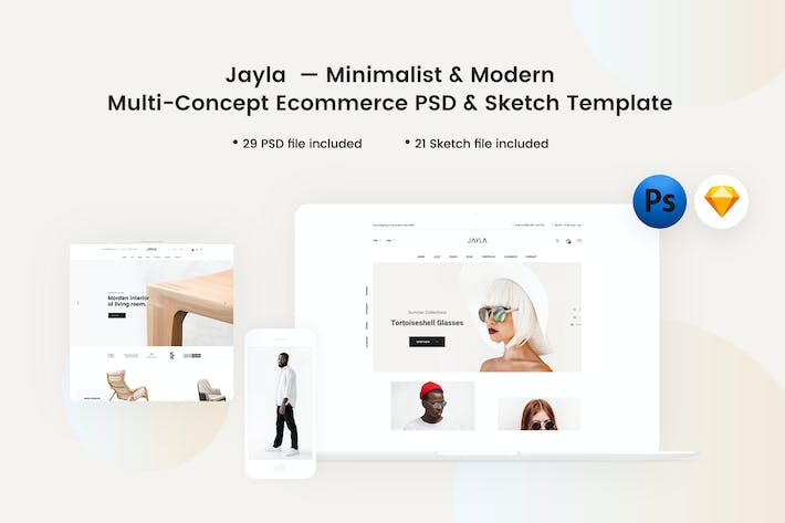 Thumbnail for Jayla - Minimalist & Modern eCommerce Template