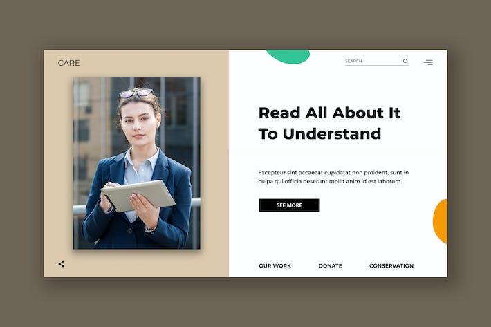 Thumbnail for Modèle d'en-tête de héros féminin d'Entreprise PSD