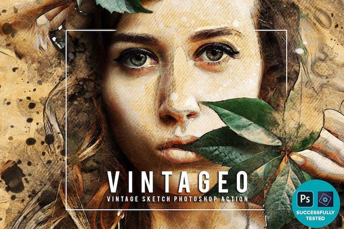 Vintageo - Винтажный Sketch Photoshop
