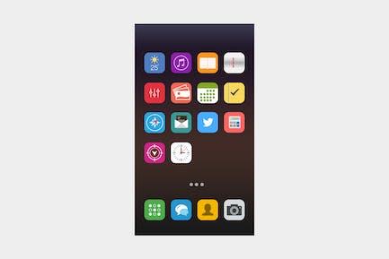 Vibrant iOS Icon Set