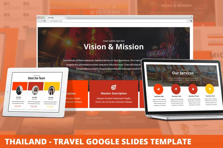 Thumbnail for Thailand - Travel Google Slides Template