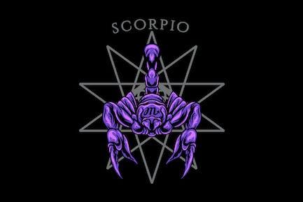 Scorpio zodiac illustration