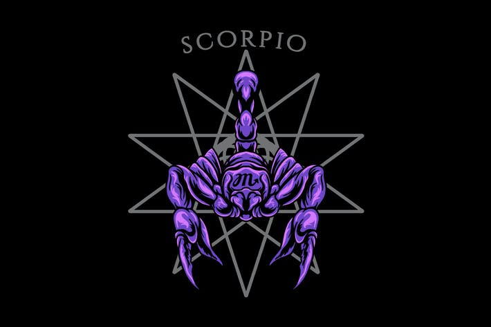 Sternzeichen-Illustration des Skorpions