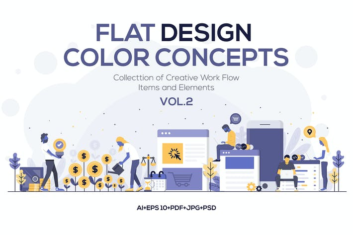 Cover Image For Modern Flat design people and Business concepts 2