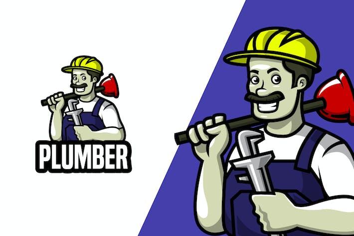 Thumbnail for Plumber - Mascot Logo Template