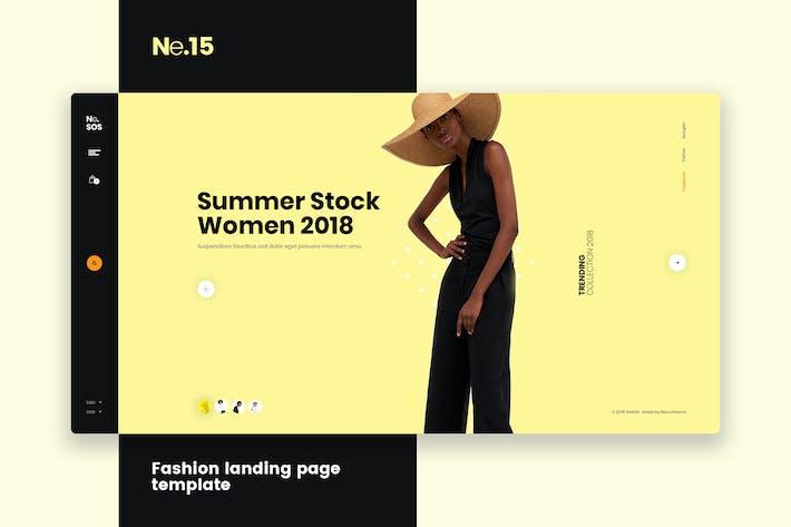 Thumbnail for Ne15 - Fashion landing page template