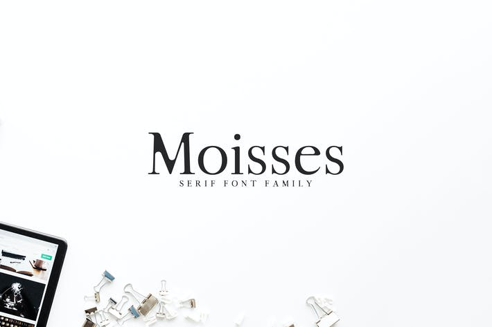 Thumbnail for Moisses Con serifa Font Family Pack