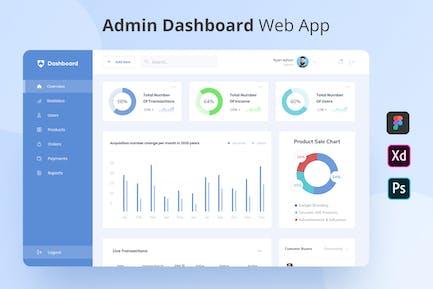 Dashboard - Admin Dashboard Web App