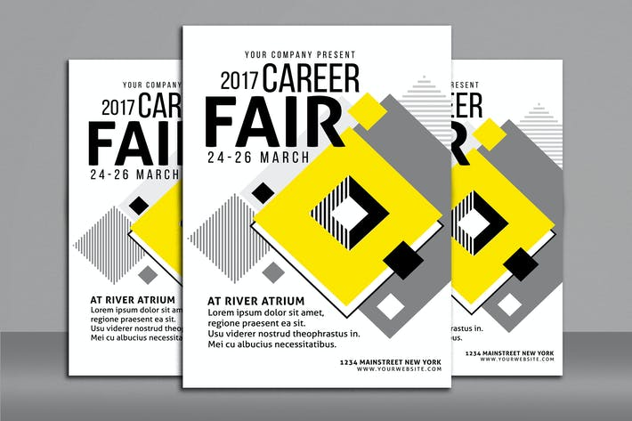 Thumbnail for Career Fair Flyer Poster