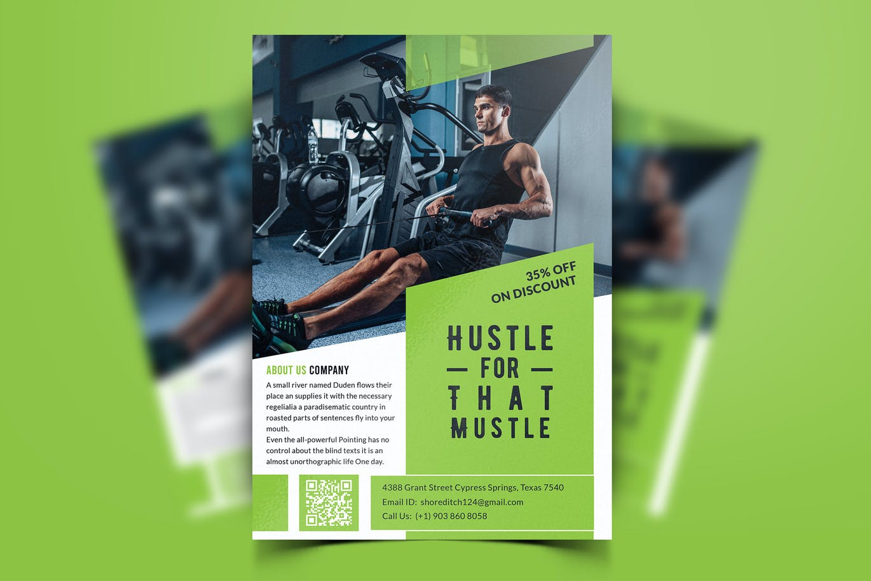 Fitness flyer design PSD