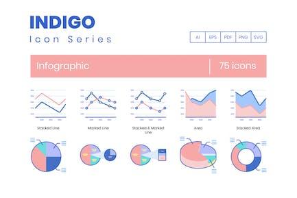75 Infografik-Icons - Indigo-Serie