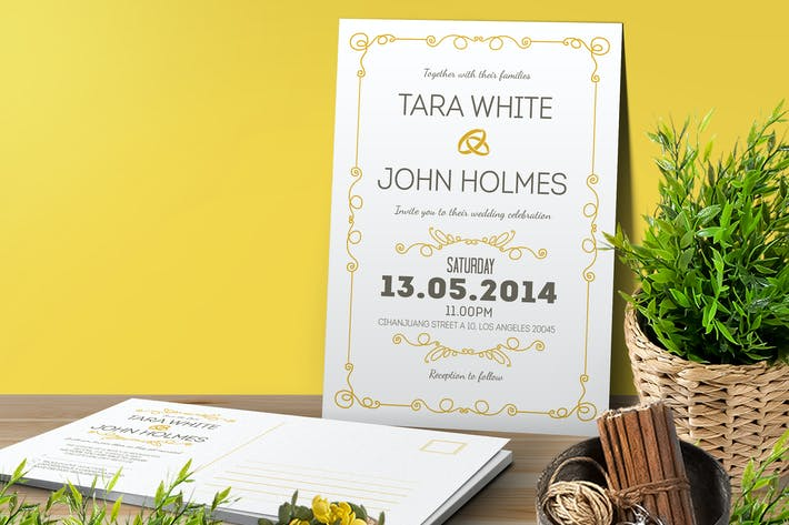 Thumbnail for Simple Wedding Invitation & RSVP