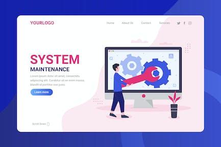 System Maintenance - Landing Page