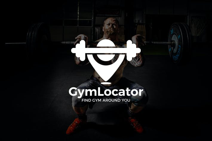Cover Image For GymLocator : Negative Space Location Pin Logo