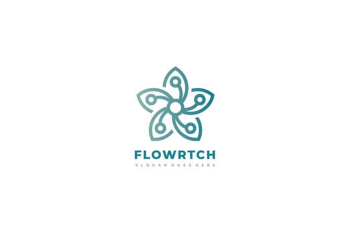 Technology Flower Logo