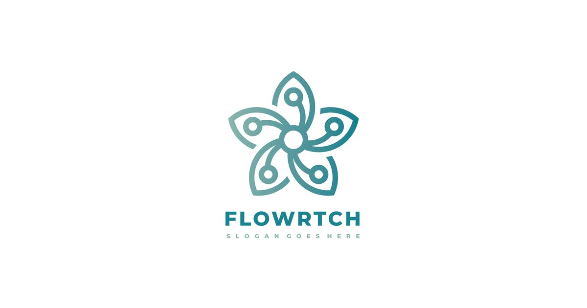 Download Technology Flower Logo by 3ab2ou