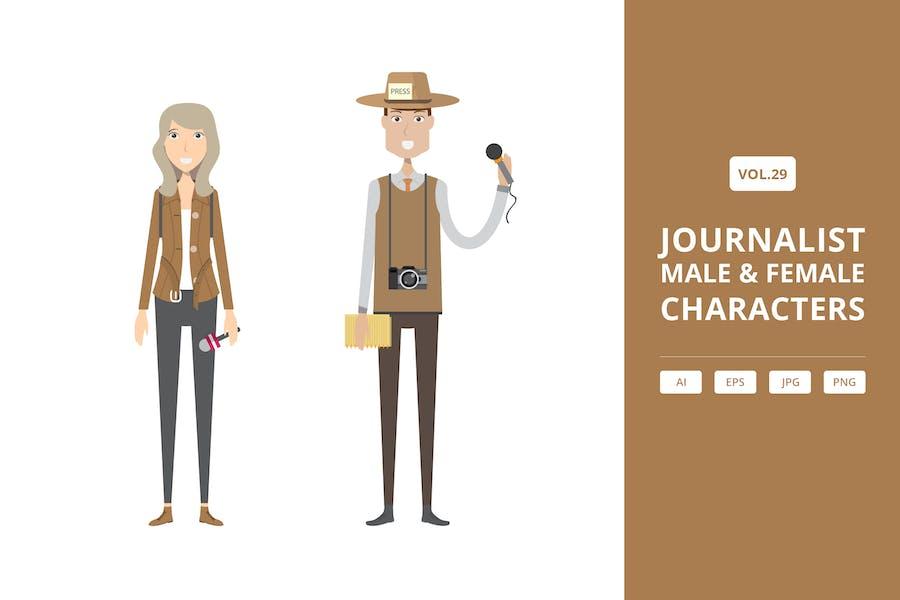 Журналист - Мужские и женские персонажи Vol.29