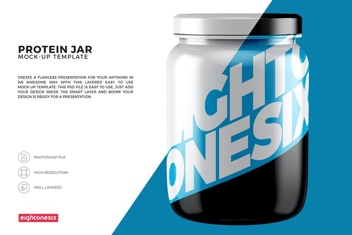 Thumbnail for Protein Jar Mock-Up Template