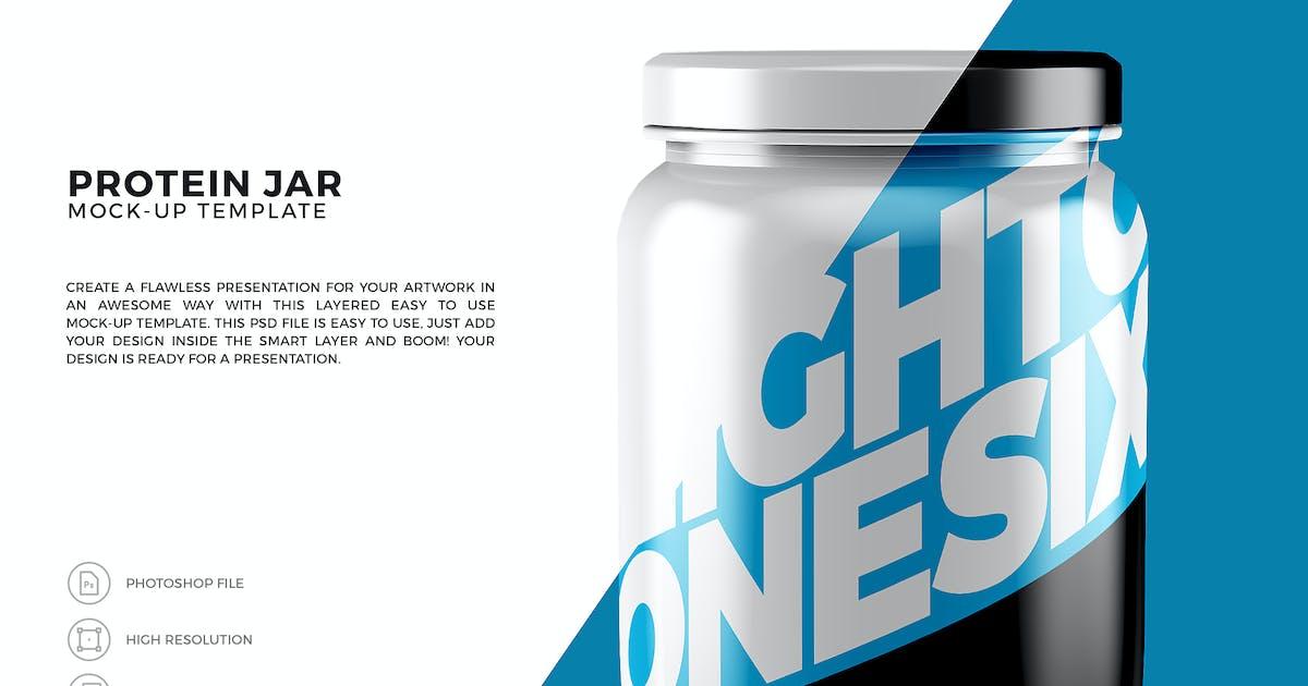 Download Protein Jar Mock-Up Template by EightonesixStudios