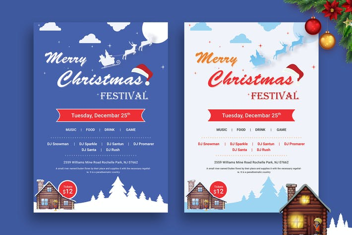 Thumbnail for Christmas Night Party 02 - Flyer