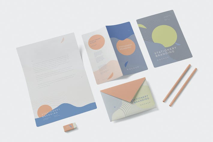 Thumbnail for Stationery Branding Mockup Creator Set