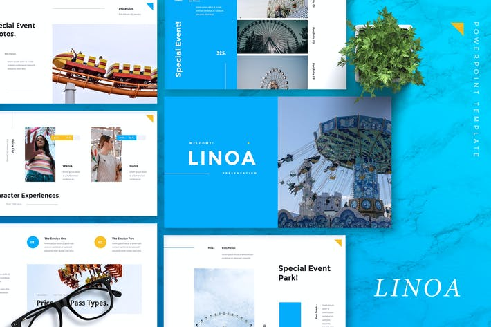 Thumbnail for LINOA - Theme Park Powerpoint Template