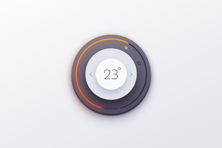Thumbnail for Thermostat Knob UI
