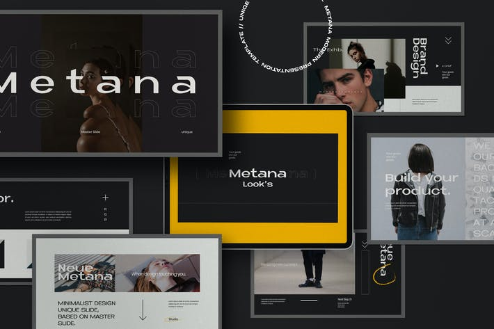 Thumbnail for Metana - Modern Powerpoint Creative Agancy
