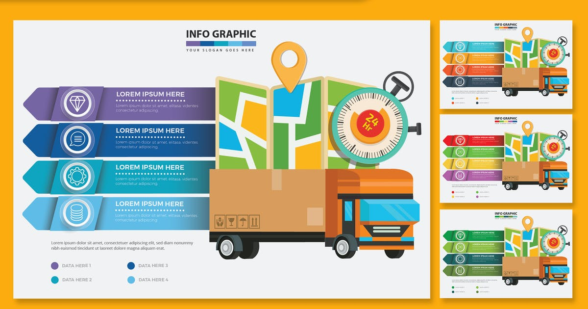 Download Delivery Infographics design by mamanamsai
