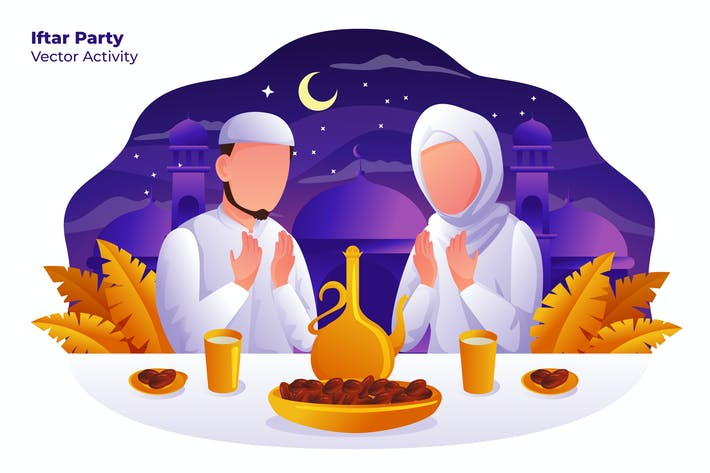 Thumbnail for Iftar Party - Vector Illustration