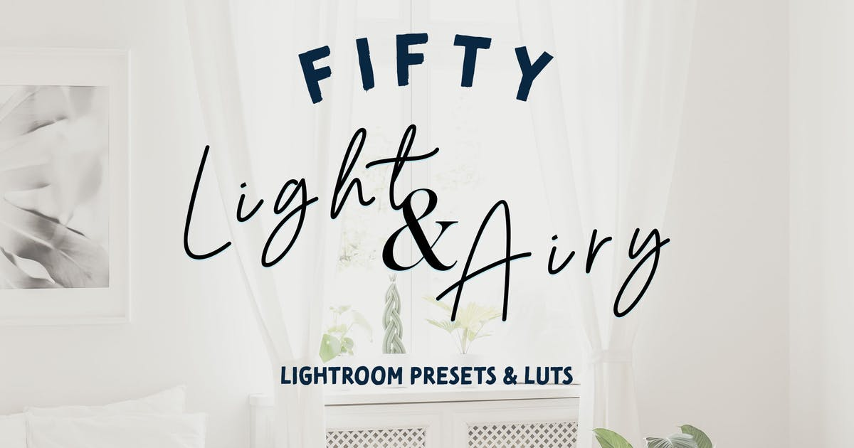 Download 50 Light Airy Lightroom Presets and LUTs by sparklestock