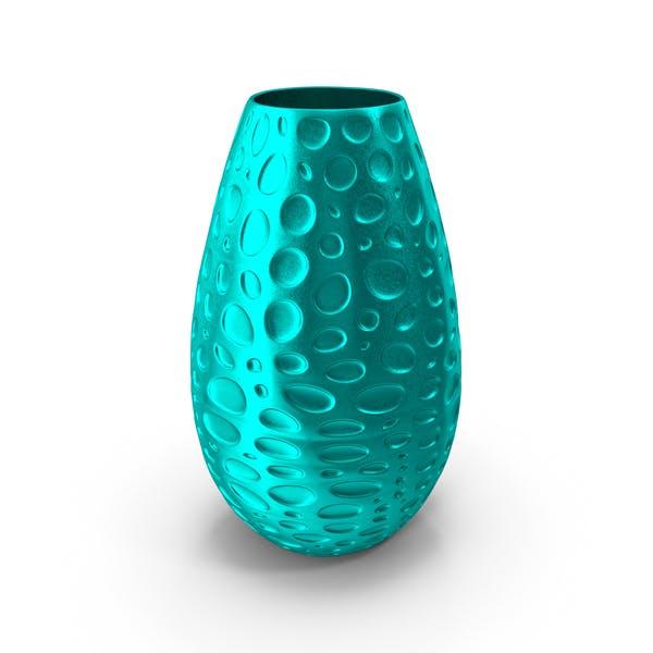 Желтая стеклянная ваза