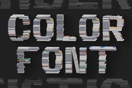 Livres - Color SVG Font