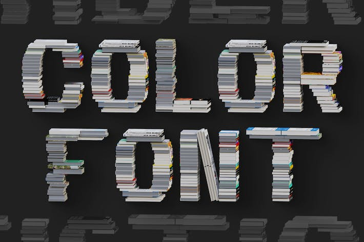 Thumbnail for Libros - Color SVG Font