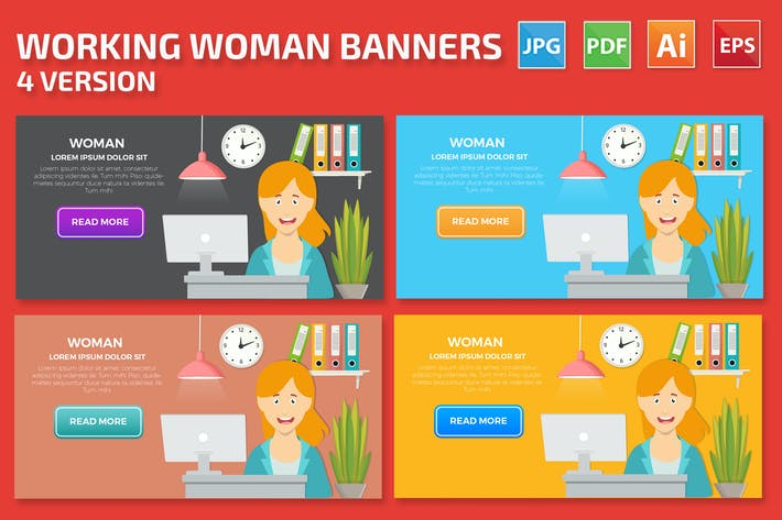 Thumbnail for Woman Banners Design